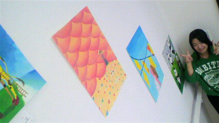 階段スペース作品展示会